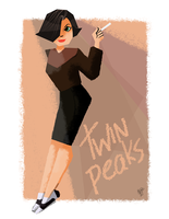 Audrey Twin Peaks ART TRADE by AtomicTiki