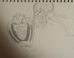 League of Legends - Swain and Trundle by JoeJoeNugget