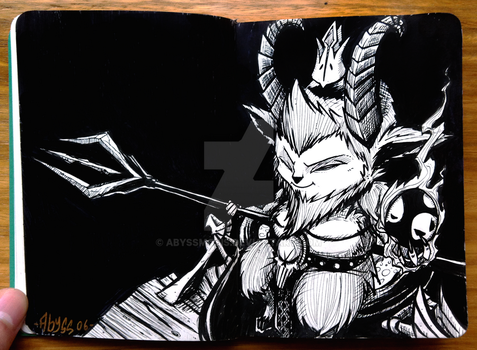 DEMON TEEMO - Inktober day#3 by Abyssmosis