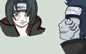 Itachi/kisame doodle... by Riylin