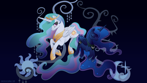 Harmony: Celestia and Luna by SambaNeko