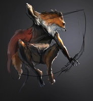 wip Fox archer by Ketunleipaa