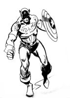 Captain America - John Buscema Inspired by YTheJoshuaTreeY