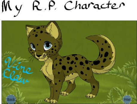 My roleplay character by VineClaw