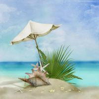 Beach Time(Digital Painting) by chamirra