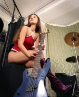 guitar rock chick2 by Spot25