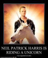 NPH is Riding a Unicorn by mamacros