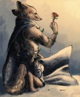 Fox and a Rose by Zethelius