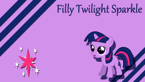 Filly Twilight Sparkle Wallpaper by Silentmatten