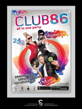 Club86 Party Poster by SanalSanat