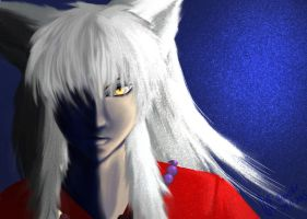 InuYasha......too much glitter maybe :| by TheNoNameSquirrel