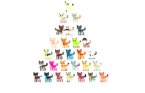 Character Pyramid! WIP by slothbabies