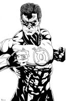 Green Lantern close up Inked by TyndallsQuest