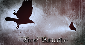 The Crow and the Butterfly by 8i-Emmz-i8