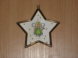 Cross stitch small fairy by Enithien