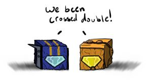 Jet Twins Cubes by Shirobutterfly