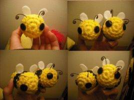 Crochet Bees! by eclipseshadow4