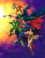 JLA coloured by mistermoster