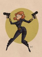 iPad Black Widow by tyrannus