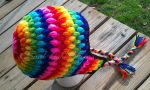 Rainbow Puff Stitch Beanie V2 by xKornsFreakx