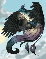 Sye Bird Form (color) by jeweledphoenix