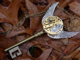 Steampunk golden snitch key by Hiddendemon-666