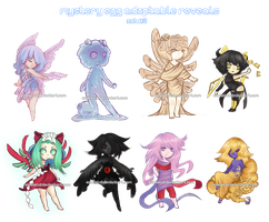 Mystery Egg Adoptable Reveals [Set 2] by jellyflavoured