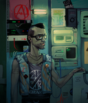 anarchist hacker by caltron