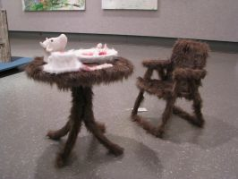 Furry Table And Chair 1 by ItsAllStock