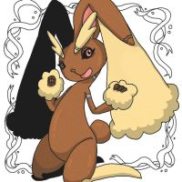 Ornate Pokemon: Lopunny by StacheRabbit