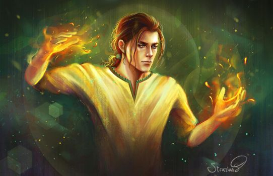 Dayne Fire Mage (commission) by Sicarius8