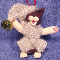 Singing Cat Christmas ornament by CreativeCritters