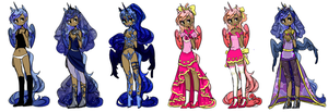 luna's outfits by Costly