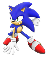 sonic the hedgehog painting by MaximilianK1