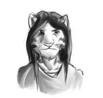 Anthro tiger sketch by ChaserTech