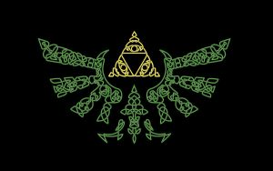 Celtic Hylian Shield wallpaper by Fuzzypop