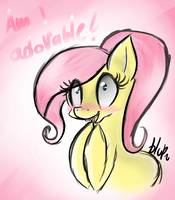 Teen Fluttershy doodle by blup-chan