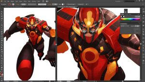 Rodimus Prime (Cybertronian) Redesign by HumanNature84