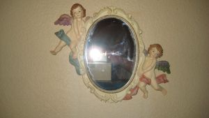 Object 4- Cherub Mirror by LadySarah-Stock