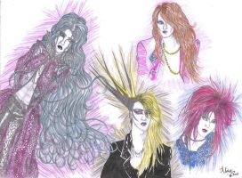 Yoshiki coloured practise by Glammed-dreams