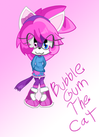 Bubblegum the Cat-digital by peace-love-penguins
