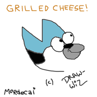 Mordecai - Grilled Cheese by draw-wiz