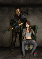 Fallen and Eris - OC - Fallout by Alchemistress666
