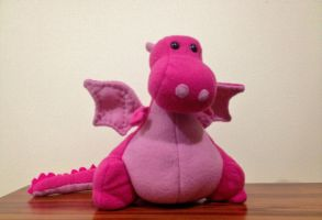 Pink Fat Dragon Plushie by x0xChelseax0x