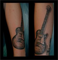 Les Paul tattoo by Lillithmorgain
