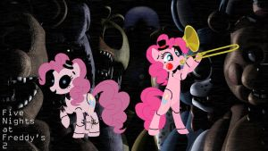 Pinkie and Toy Pinkie - Fnaf by wilczek12