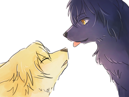 [Pandora Hearts]Gilbert and Vincent[Canification] by Galecoroco