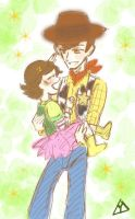 Woody and Bonnie by yama-green