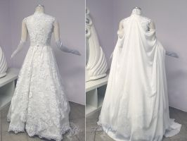 Zelda Wedding Gown Back View by Lillyxandra