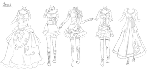 Outfit set 3: dresses by Kohane-chan